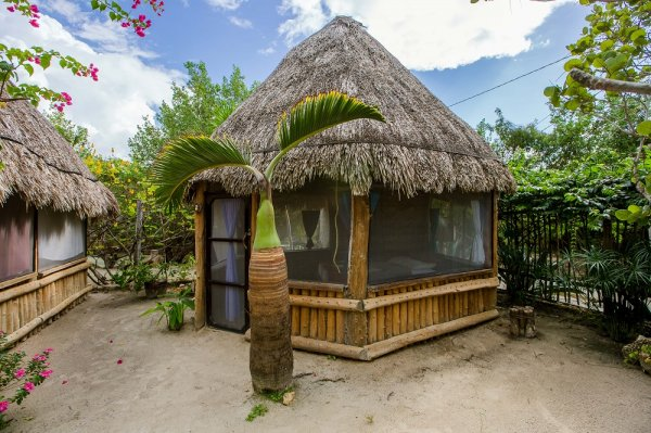 Hostel and cabanas ida y vuelta camping isla holbox for Cabanas en mexico